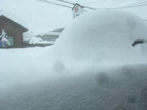 福井の大雪によって玄そば貯蔵倉庫が天然の雪室となり、雪室熟成による追熟でそば粉の挽き上がりが非常に良いです。