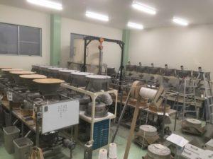 カガセイフン改修工事(1期)が終了し、福井在来種に特化した製造ラインに一新。